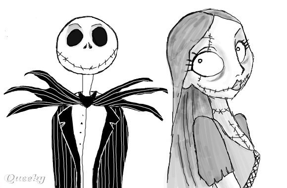 Image URL The Nightmare Before Christmas Sally And Jack Drawings