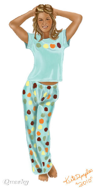 pajama girl a people speedpaint drawing by kutedymples queeky