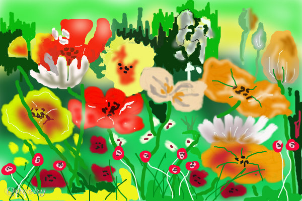 My Garden A Plants Speedpaint Drawing By Whistler Queeky