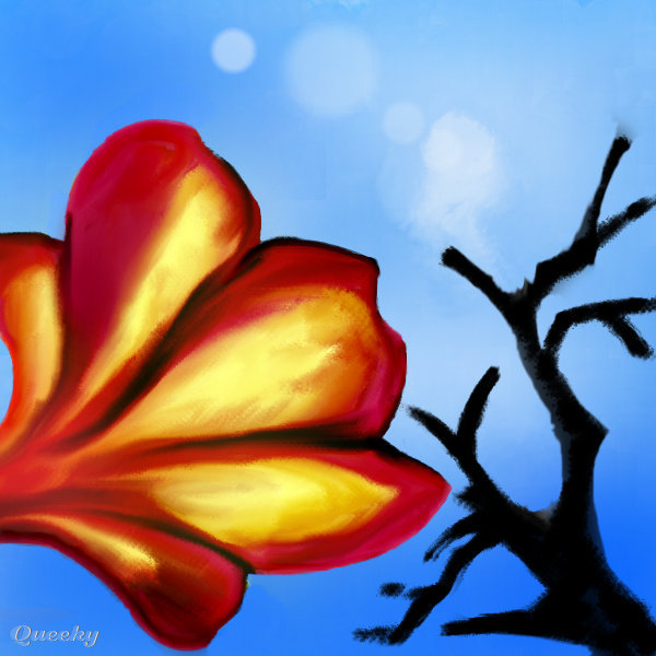Flower In Close Up ← A Plants Speedpaint Drawing By