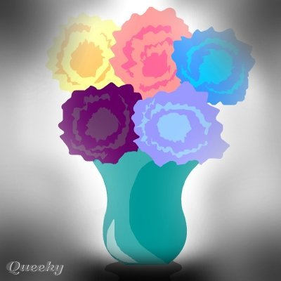 Flowers In A Vase ← a plants drawing by Sarawinnie1 . Queeky - draw online!
