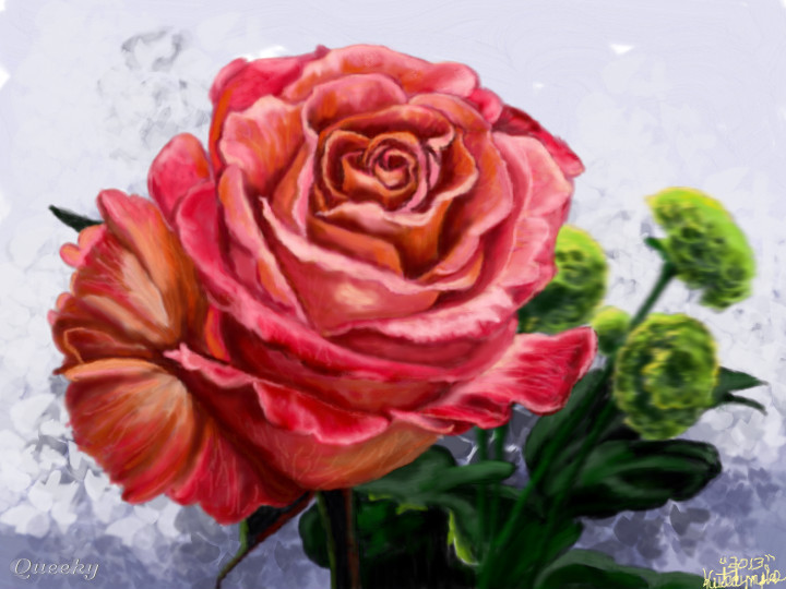 My Crazy Colored Rose ← a plants Speedpaint drawing by ...