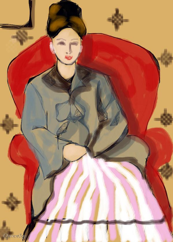 MADAME CEZANNE IN RED ARMCHAIR ← a portrait Speedpaint ...