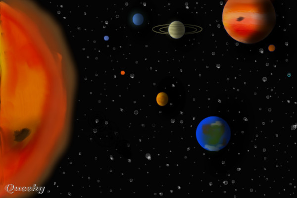 solar system drawing - photo #6