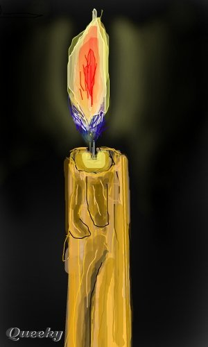 Candle In The Dark A Still Life Speedpaint Drawing By