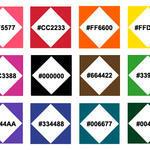 PPAT Color Palette (w/ Hex Codes)