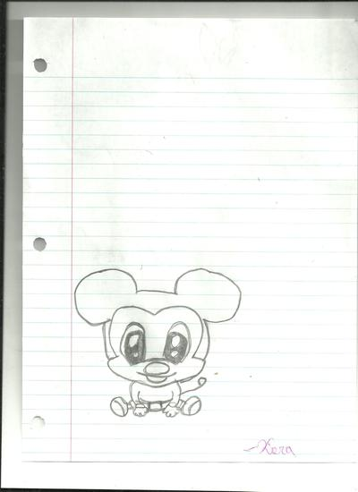how to draw baby mickey mouse