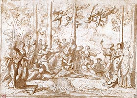 click to draw with Nicolas Poussin