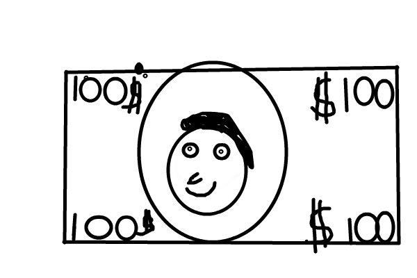 100 dollar bill ← a black--white Speedpaint drawing by ...