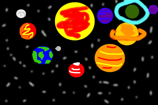 paint in the solar system drawing - photo #10