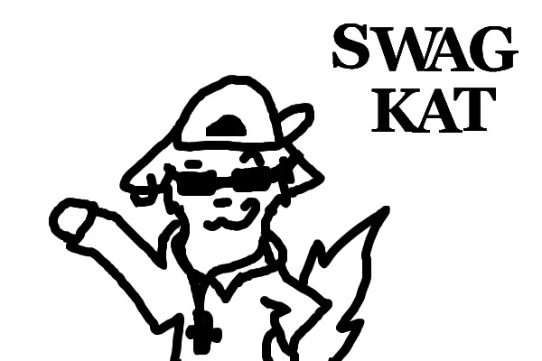 Swag Kat Color Page Graffiti Coloring Pages