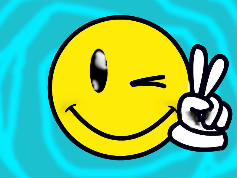 Graffiti Smiley Face Drawing
