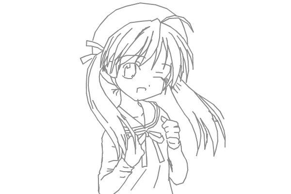 how to draw a teenage girl anime