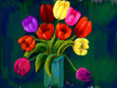 tulips-in-a-blue-vase