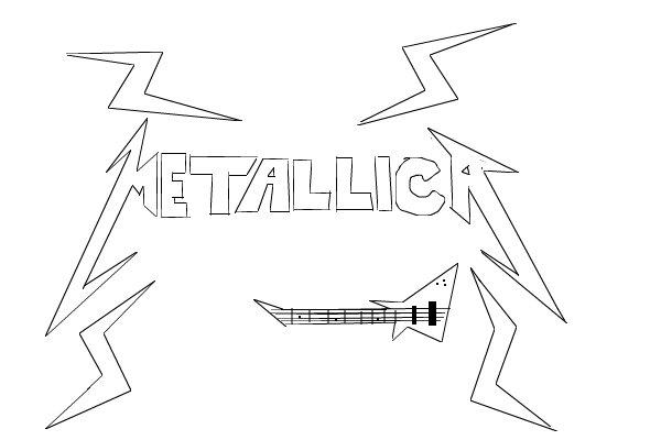 metallica logo a speedpaint drawing by
