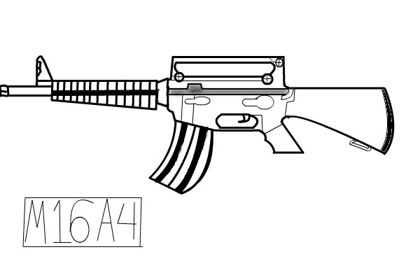 M16 A Other Speedpaint Drawing By Joshuaskateman
